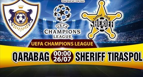 Nhan dinh Qarabag vs Sheriff 0h00 ngay 267 (So loai Champions League) hinh anh