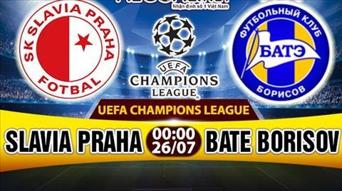 Nhan dinh Slavia Praha vs BATE Borisov 00h00 ngay 267 (So loai Champions League) hinh anh
