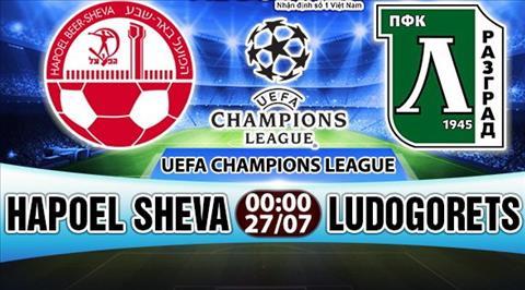 Nhan dinh Hapoel Sheva vs Ludogorets 00h00 ngay 277 (So loai Champions League) hinh anh