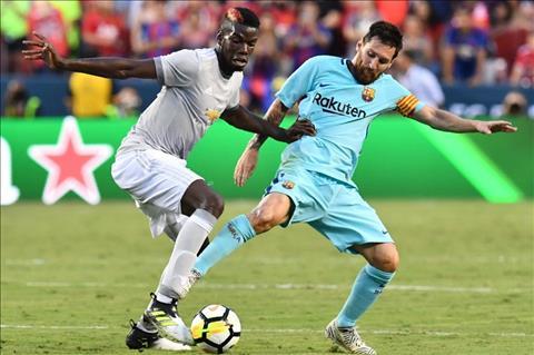 Pogba voi Messi o tran Barca 1-0 M.U