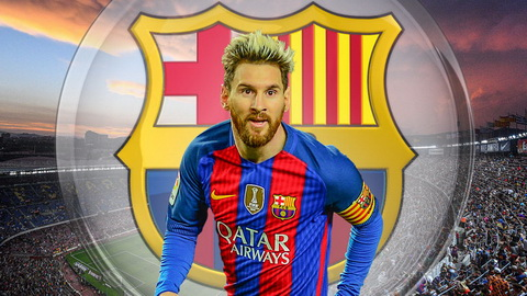 Lionel Messi vua gia han hop dong voi Barcelona.