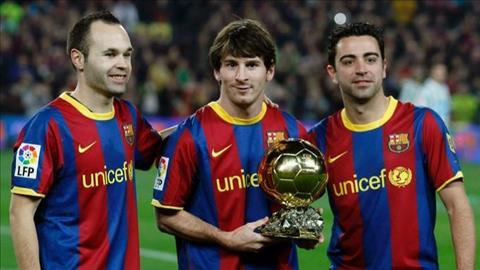 Messi Xavi Iniesta