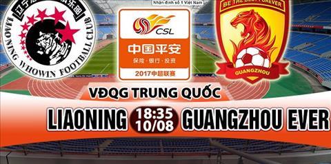 Nhan dinh Liaoning vs Guangzhou Evergrande 18h35 ngay 108 (VDQG Trung Quoc) hinh anh