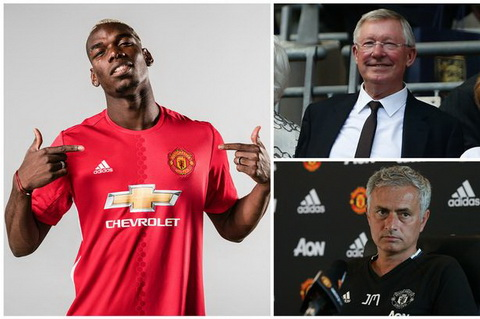 Jose Mourinho khong he lan tranh cai bong cua Sir Alex Ferguson ma dung cam doi mat.