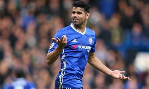 Diego Costa phai tap cung doi du bi o Chelsea.
