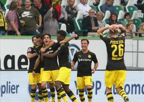 Tong hop Wolfsburg 0-3 Dortmund (Vong 1 Bundesliga 201718) hinh anh