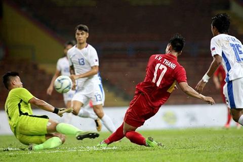 U22 Viet Nam 4-0 U22 Philippines Khong Xuan Truong, khong van de! hinh anh 4