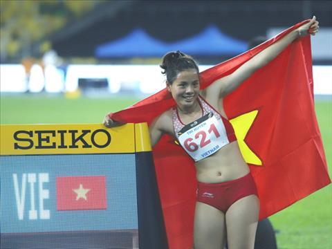 Nguyen Thi Huyen Ky luc gia Sea Games suyt bi loai khoi tuyen dien kinh hinh anh