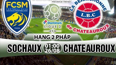 Nhan dinh Sochaux vs Chateauroux 01h00 ngay 268 (Hang 2 Phap 201718) hinh anh