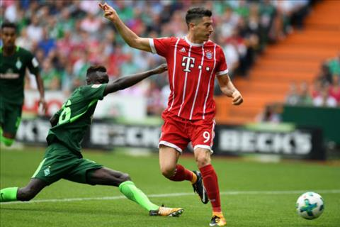 Tong hop Bremen 0-2 Bayern Munich (Vong 2 Bundesliga 201718) hinh anh