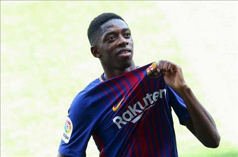 Tien ve Ousmane Dembele danh gia cao Messi hinh anh