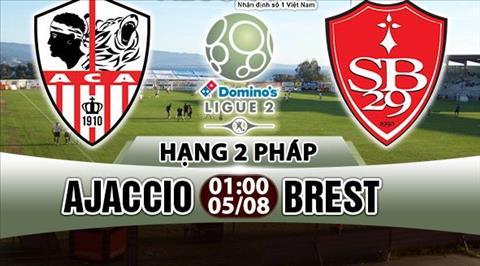 Nhan dinh Ajaccio vs Brest 01h00 ngay 58 (Hang 2 Phap 201718) hinh anh