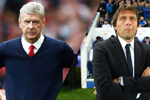 Wenger choi don tam ly chien voi Conte truoc them Sieu Cup hinh anh