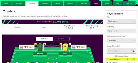 Gioi thieu luat choi cua Fantasy Premier League 201718 hinh anh 4