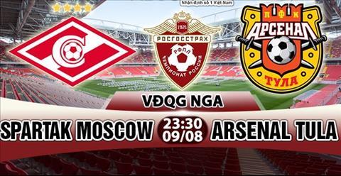 Nhan dinh Spartak Moscow vs Arsenal Tula 23h30 ngay 98 (VDQG Nga 201718) hinh anh