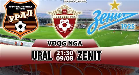 Nhan dinh Ural vs Zenit 21h30 ngay 98 (VDQG Nga) hinh anh