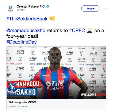 Liverpool ban trung ve Mamadou Sakho cho Crystal Palace hinh anh