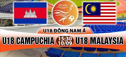 Nhan dinh U18 Campuchia vs U18 Malaysia 15h30 ngay 109 (U18 Dong Nam A 2017) hinh anh