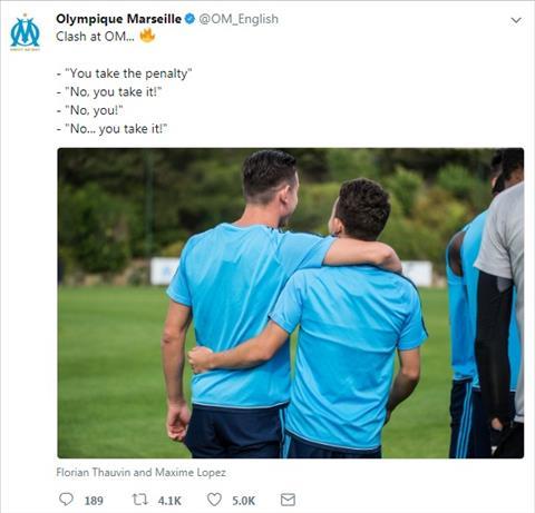 tweet mang tinh chat khieu khich cua Marseille