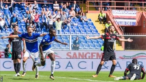 Sampdoria 2-0 AC Milan: Tra gia vi hang thu