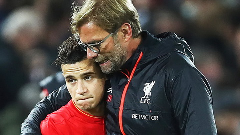Klopp thua nhan Liverpool can duong den Barca cua Philippe Coutinho.