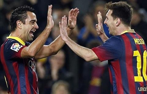 Xavi tang boc Messi