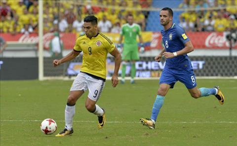 Falcao giup Colombia cam chan Brazil tren san nha