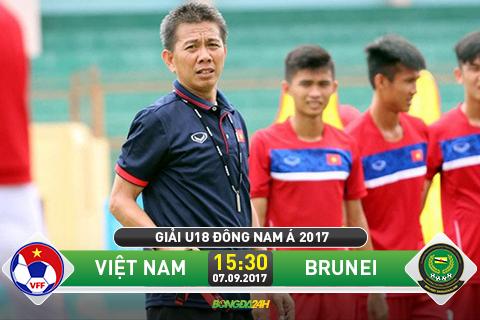 Xem truc tiep U18 Viet Nam vs U18 Brunei chieu nay phat song o dau hinh anh