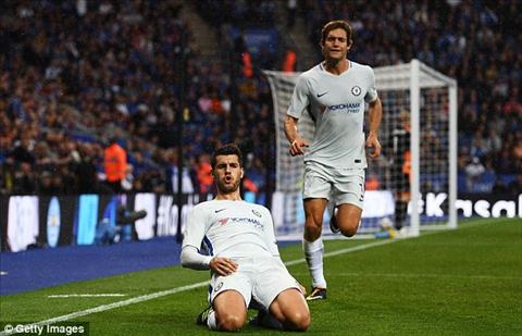 Hazard thach do tan binh Morata ghi ban bang chan hinh anh