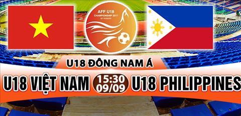 Nhan dinh U18 Viet Nam vs U18 Philippines 15h30 ngay 99 (U18 Dong Nam A 2017) hinh anh