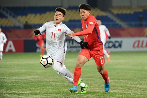 U23 Viet Nam van kem xa U23 Han Quoc hinh anh