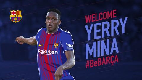 Yerry Mina la ban hop dong tiep theo cua Barca trong thang 1/2018.