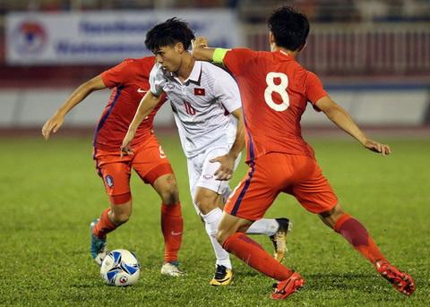 Cong Phuong tran day tu tin sau man the hien tot voi U23 Han Quoc.
