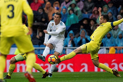 Ronaldo co so lan dut diem (11) hon ca doi Villarreal (10)