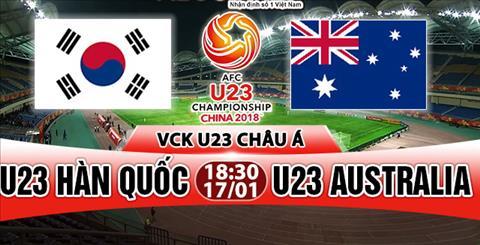Nhan dinh U23 Han Quoc vs U23 Australia 18h30 ngay 171 (VCK U23 chau A 2018) hinh anh