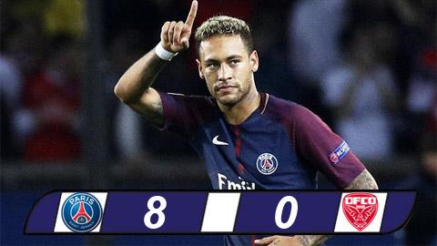 Tong hop: PSG 8-0 Dijon (Vong 21 Ligue 1 2017/18)
