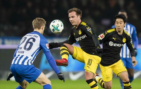 Tong hop Hertha Berlin 1-1 Dortmund (Vong 19 Bundesliga 201718) hinh anh