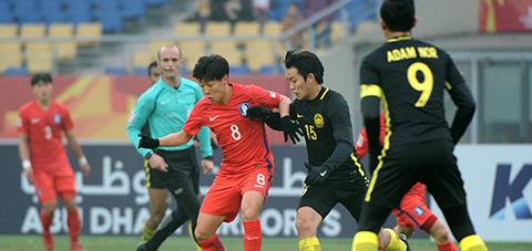 Ket qua bong da U23 Han Quoc vs U23 Malaysia tu ket U23 Chau A hinh anh