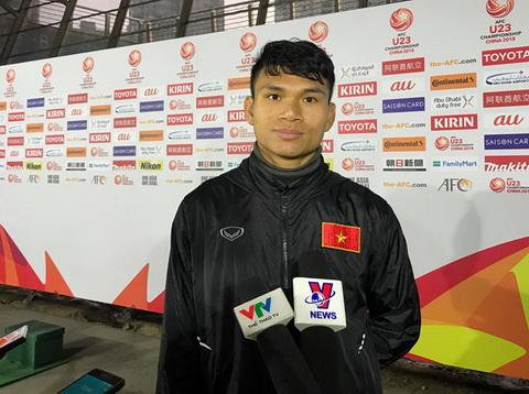 Xuan Manh tu tin truoc tran ban ket cua U23 Viet Nam.