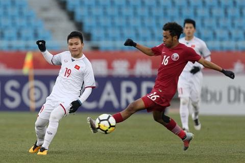 Quang Hai vs U23 Qatar