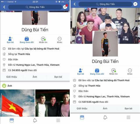 Luong theo doi facebook thu mon Tien Dung tang chong mat sau ban ket U23 chau A hinh anh
