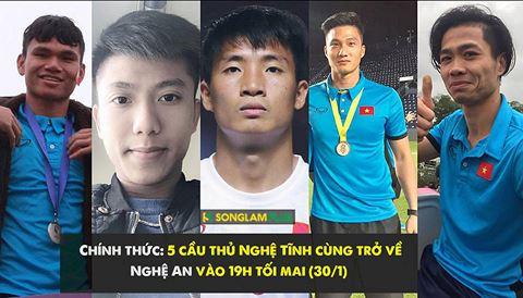 Tinh Nghe An va CLB SLNA to chuc le don 5 nguoi con xu Nghe tai U23 Viet Nam hinh anh