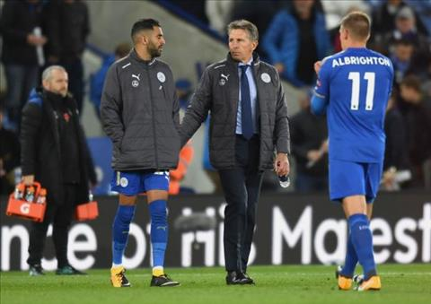 HLV Leicester len tieng canh bao Riyad Mahrez hinh anh