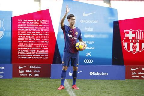 Philippe Coutinho den Barca voi gia 160 trieu euro.