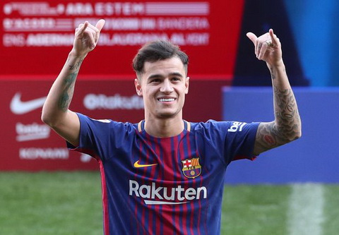 Coutinho duoc quy hoach thay the Messi o Barcelona hinh anh