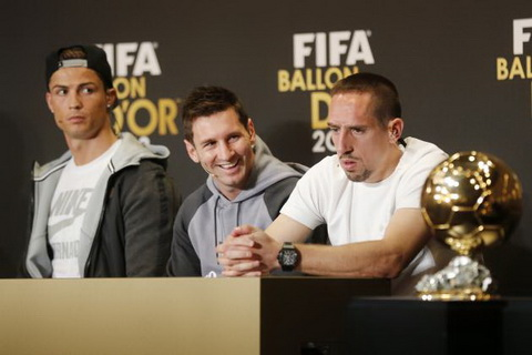 Frank Ribery cho rang Qua bong vang 2013 phai thuoc ve ban than.