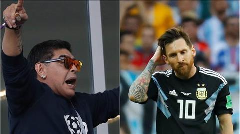 Diego Maradona chỉ trích Lionel Messi hình ảnh