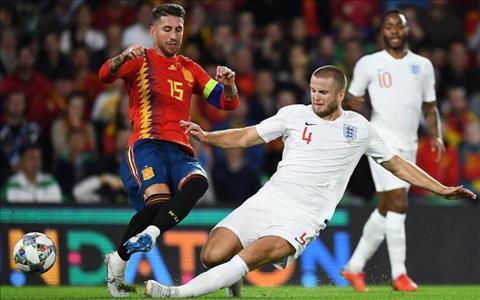 Eric Dier tren tuyen Anh vs Ramos TBN