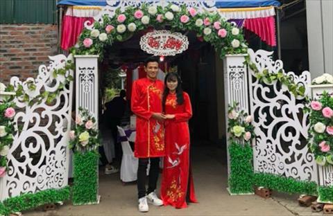 Nu tuyen thu Pham Hoang Quynh chuan bi ket hon voi tien ve Ho Ngoc Thang