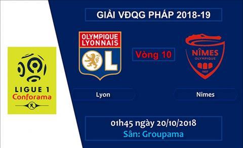 Lyon vs Nimes 01h45 ngày 2010 (Ligue 1 201819) hình ảnh